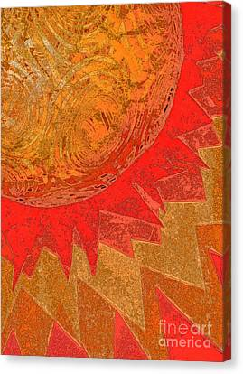 Sun Rays Canvas Print - Sunburst By Jammer  And Jrr by First Star Art