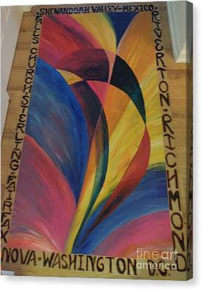 Sunburst Floorcloth Canvas Print