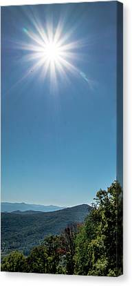 Sunburst Over Craggy Gardens Canvas Print