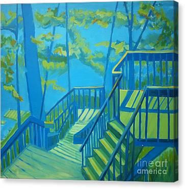 Suncook Stairwell Canvas Print by Debra Bretton Robinson