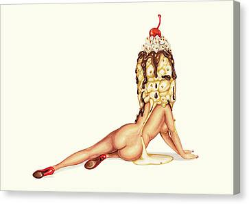 Cream Canvas Print - Sundae Best by Kelly Gilleran