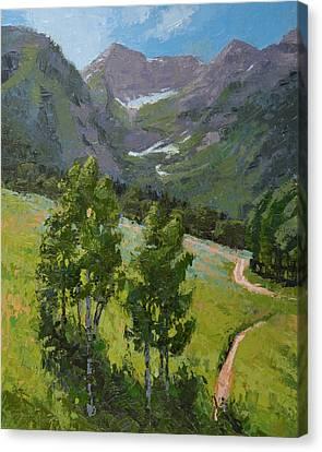 Sundance Mountain Bike Trail Canvas Print