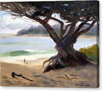 Sunday Afternoon Carmel Beach Canvas Print by Karin  Leonard