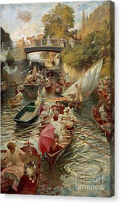 Sunday Afternoon Canvas Print by Edward John Gregory