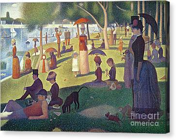 Seurat Canvas Print - Sunday Afternoon On The Island Of La Grande Jatte by Georges Pierre Seurat