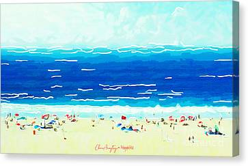 Sunday At Bondi Canvas Print
