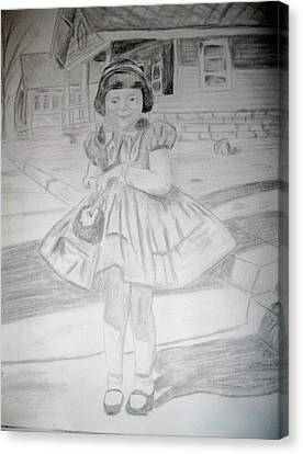 Canvas Print featuring the drawing Sunday Best by Rebecca Wood