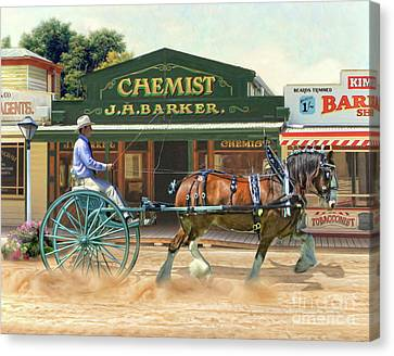 Horse And Cart Canvas Print -  Sunday Best by Trudi Simmonds