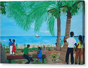 Sunday By The Beach Canvas Print by Nicole Jean-Louis