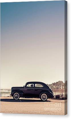 Sunday Drive To The Beach Canvas Print by Edward Fielding