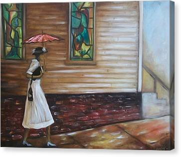Canvas Print featuring the painting Sunday by Emery Franklin