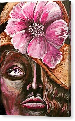 Sunday Hat Canvas Print by Yvonne Blasy