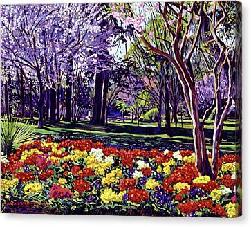 Sunday In The Park Canvas Print by David Lloyd Glover