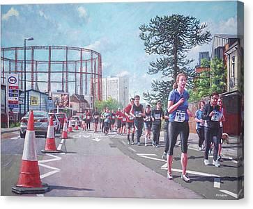 Sunday Morning Abp Marathon. Northam, Southampton  Canvas Print