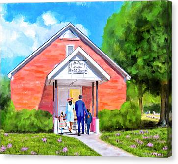 Canvas Print featuring the painting Sunday Morning In South Georgia by Mark Tisdale