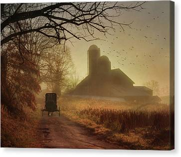 Amish Farms Canvas Print - Sunday Morning by Lori Deiter