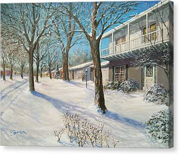 Sunday Morning Snow Canvas Print by Edward Farber