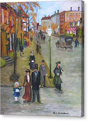 Sunday Morning Stroll Canvas Print by Aurelia Nieves-Callwood