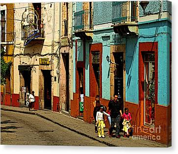 Sunday Morning Stroll Canvas Print by Mexicolors Art Photography