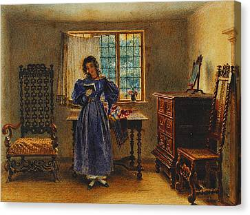 Sunday Morning Canvas Print by William Henry Hunt