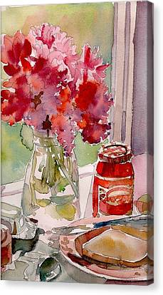 Canvas Print featuring the painting Sunday Morning by Yolanda Koh