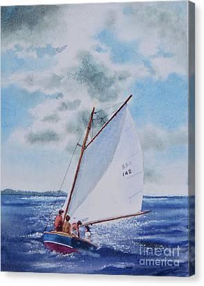 Sunday Sail Canvas Print by Karol Wyckoff