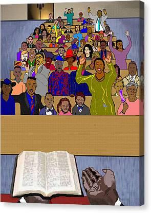 Sunday Sermon Canvas Print by Pharris Art