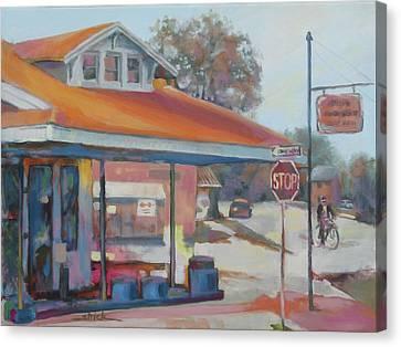Sunday Traffic Canvas Print by Carol Strickland