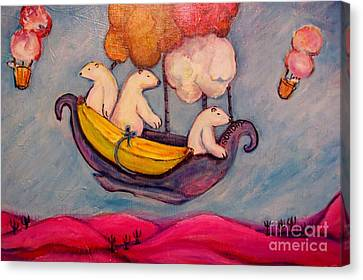 Sundays' Bears Canvas Print by Susan Brown    Slizys art signature name