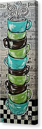 Sundays Cup A Joe Dark Roast Canvas Print