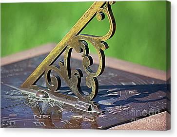 Sundial In The Garden Canvas Print