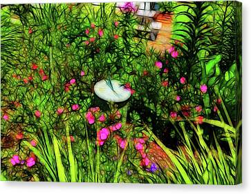 Sundial In The Garden Canvas Print by Tim Coleman
