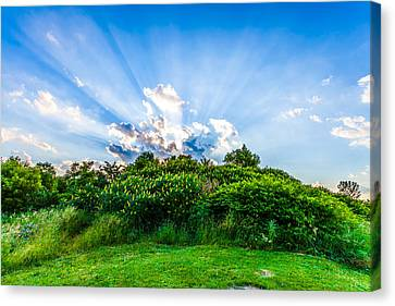 Canvas Print featuring the photograph Sundown by Anthony Rego