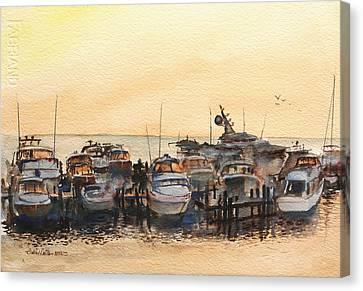 Sundown At Destin Canvas Print