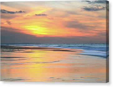 Canvas Print featuring the photograph Sundown At Race Point Beach by Roupen  Baker