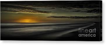 Sundown At Santa Rosa Beach Canvas Print