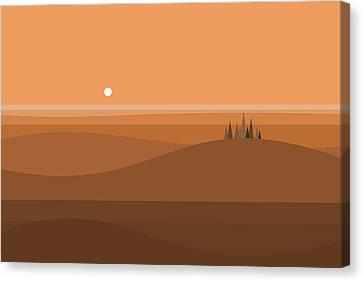 Sundown Browns Canvas Print