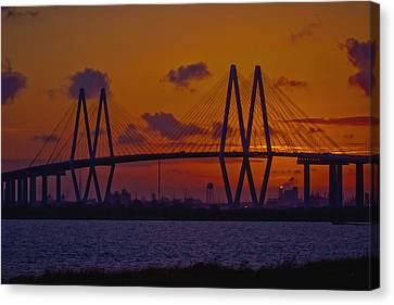 Island Stays Canvas Print - Sundown In Baytown by Linda Unger