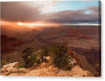 Sundown On The South Rim Canvas Print by Mike Buchheit