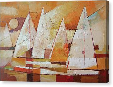 Sundown Regatta Canvas Print
