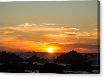 Sundown Surf Canvas Print