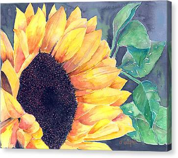 Sunflower Canvas Print by Arline Wagner