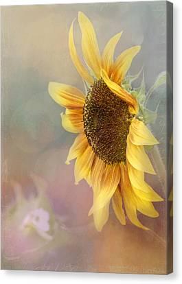 Sunflower Art - Be The Sunflower Canvas Print by Jordan Blackstone
