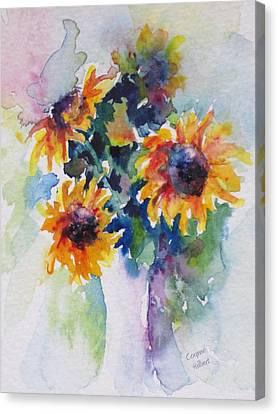 Sunflower Bouquet Canvas Print by Corynne Hilbert
