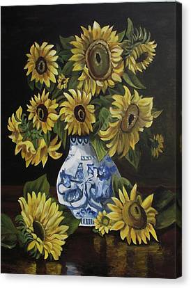Canvas Print - Sunflower Bouquet by Kim Selig