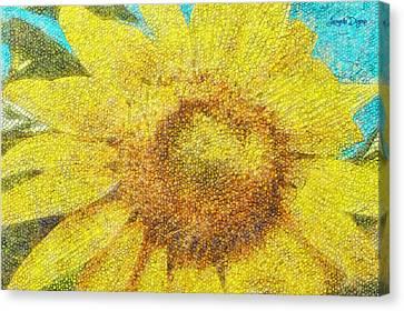 Sunflower - Da Canvas Print
