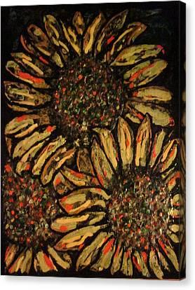 Sunflower Canvas Print by David Sutter