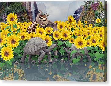 Sunflower Daydream  Canvas Print by Betsy Knapp