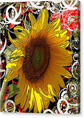 Sunflower Dreaming Canvas Print by Teresa Henry