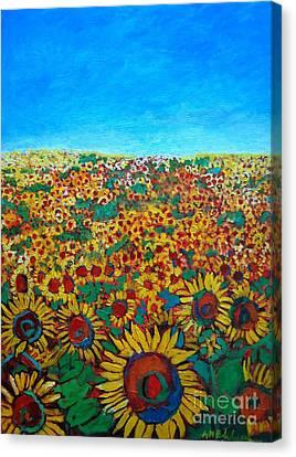 Sunflower Field Canvas Print by Ana Maria Edulescu